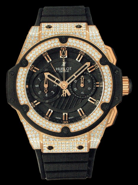 HUBLOT(ウブロ) KING POWER 48mm GOLD DIAMONDS 715.PX.1128.RX