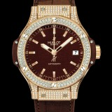 HUBLOT(ウブロ) BIG BANG 38mm CAPPUCINO GOLD PAVE 365.PC.3180.LR.1704