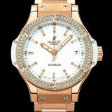 HUBLOT(ウブロ) BIG BANG 38mm GOLD WITH DIAMONDS BRACELET 365.PE.2180.PE.1104
