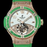 HUBLOT(ウブロ) 限定 BIG BANG 41mm TUTTI FRUTTI TOURBILLON APPLE PAVE 345.PG.2010.LR.0922