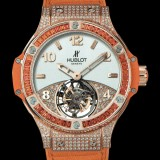 HUBLOT(ウブロ) 限定 BIG BANG 41mm TUTTI FRUTTI TOURBILLON ORANGE PAVE 345.PO.2010.LR.0906