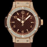 HUBLOT(ウブロ) BIG BANG 38mm CAPPUCCINO GOLD PAVE 361.PC.3380.RC.1704