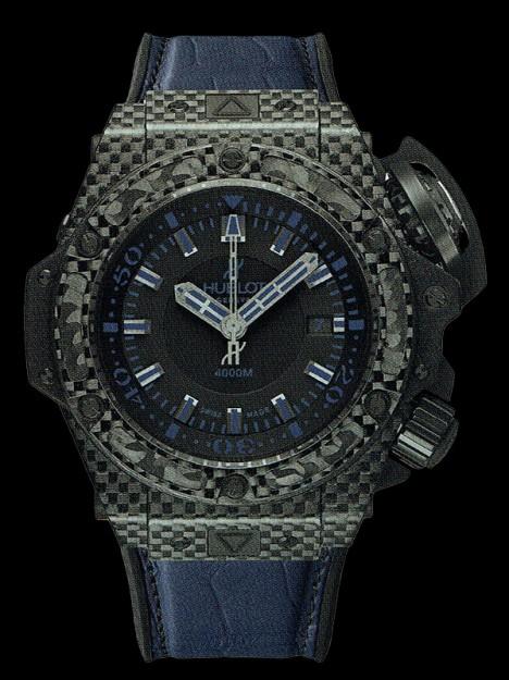 HUBLOT(ウブロ) 限定 KING POWER 48mm OCEANOGRAPHIC 4000 All Black Blue 731.QX.1190.GR.ABB12