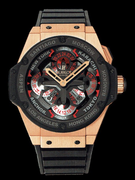 HUBLOT(ウブロ) KING POWER 48mm UNICO GMT KING GOLD CERAMIC 771.OM.1170.RX