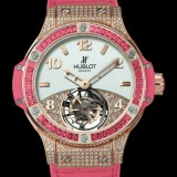 HUBLOT(ウブロ) 限定 BIG BANG 41mm TUTTI FRUTTI TOURBILLON ROSE PAVE 345.PP.2010.LR.0933