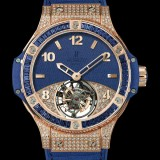 HUBLOT(ウブロ) 限定 BIG BANG 41mm TUTTI FRUTTI TOURBILLON DARK BLUE PAVE 345.PL.5190.LR.0901